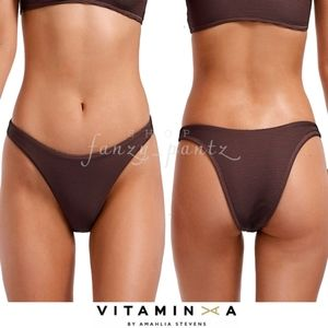 Vitamin A California High Leg Bikini Bottom NEW